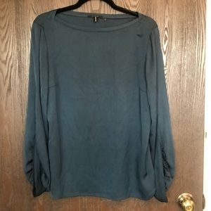 Elie Tahari - Long Sleeves Blouse - Blue/Green